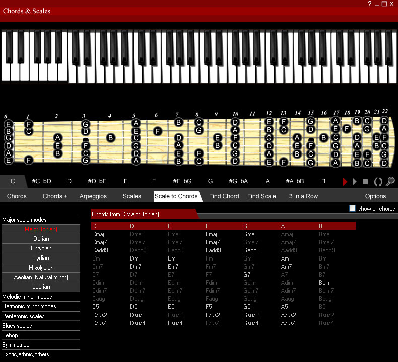 Guitar Chords and Scales screenshot