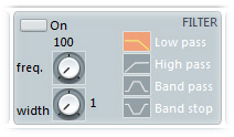 isolate guitar part with parametric equalizer