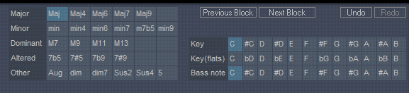 chord sequencer - chord types