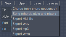 save musical styles for later use