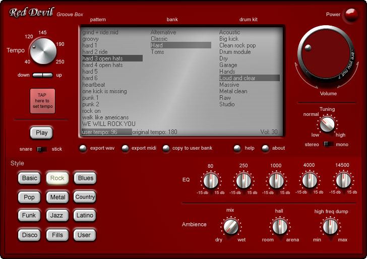 Red Devil Drum Machine Free Download : groove box simple drum machine for musician to practice their skills advanced metronome ~ Vivirlamusica.com Haus und Dekorationen