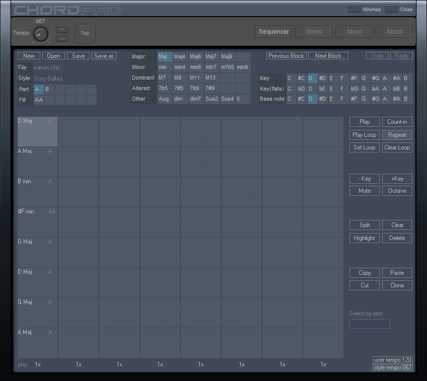 Chord Sequencer full screenshot