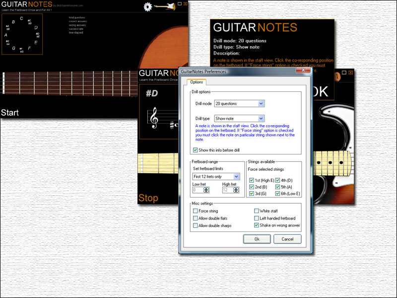 Click to view Guitar Notes 1.5 screenshot